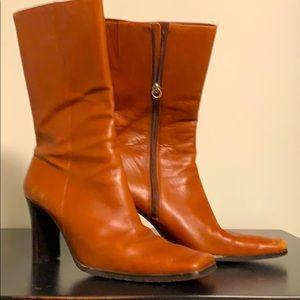 Vintage Aldo booties. Cognac in colour size 7
